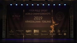 Rafaela Montanaro   winner POSA Pole Sport World Championship 2019 Senior Women finals